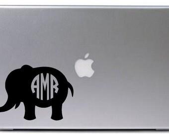 Elephant Car Decal Etsy NO - Elephant monogram car decal