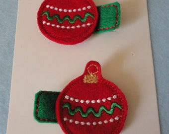 Christmas ornament alligator clippies