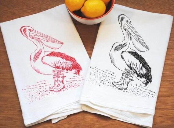 Wedding Gift Tea Towels : Pelican Tea Towel SetUnique Wedding GiftWedding Gifts for ...