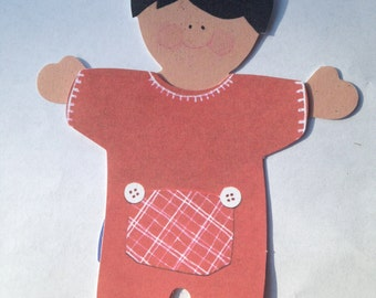 Paper Doll Boy with Pajama Long Johns