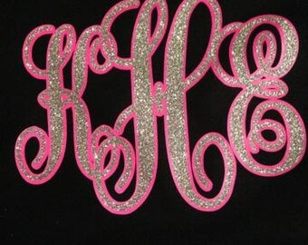 Glitter Monogram Shadowed T-shirt