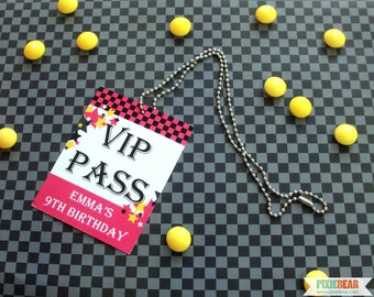 Rock Star VIP Pass - Rock Star Birthday VIP Passes - Rockstar Party - Rockstar Birthday - Printable Rock Party VIP Pass (Instant Download)