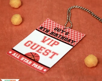 Basketball Birthday VIP Passes - Basketball Party VIP Pass - All Star Party VIP Pass - Boy Birthday Party Downloads (Instant Download)