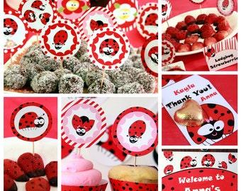 Ladybug Party - Ladybug Birthday - Lady Bug Party Printables - Lady Bug Birthday Downloads - Lady Bug Decorations (Instant Download)