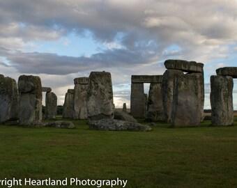 Large Sized Print, Stonehenge Print, Landscape, UK print, British Photo, Cloudy Photography, Cloudy Landscape, World Heritage, Travel