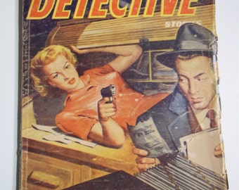 Famous Detective Vol. 13 No. 8 February 1954 Mystery/Crime Pulp Magazine