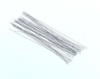 50 pc 2 1/2 inch Medium Flexible Soft Twisted Wire Beading Needles (twn-50)
