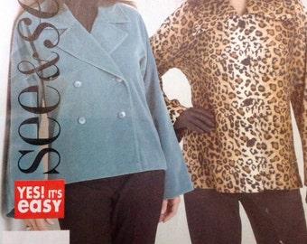 Butterick 5067 See & Sew UNCUT Misses Jacket