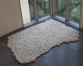 felt carpet supersoft pebbles - felt stone carpet - wool
