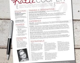 real estate realtor resume template design graphic design marketing sales real estate
