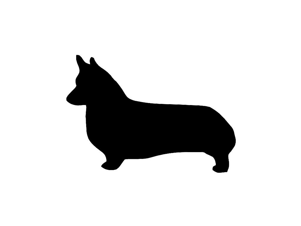 corgi dog silhouette custom die cut vinyl decal sticker