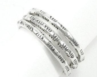 Sterling Silver Stackable Rings,Set of 3 Hammered Sterling Silver Thin Stacking rings,Stack ring,Skinny Knuckle rings/Midi Rings,Handmade