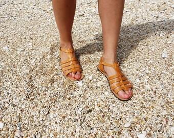 Women Gladiator Leather Sandals  Handmade Gladiator Sandal  Greek Sandals