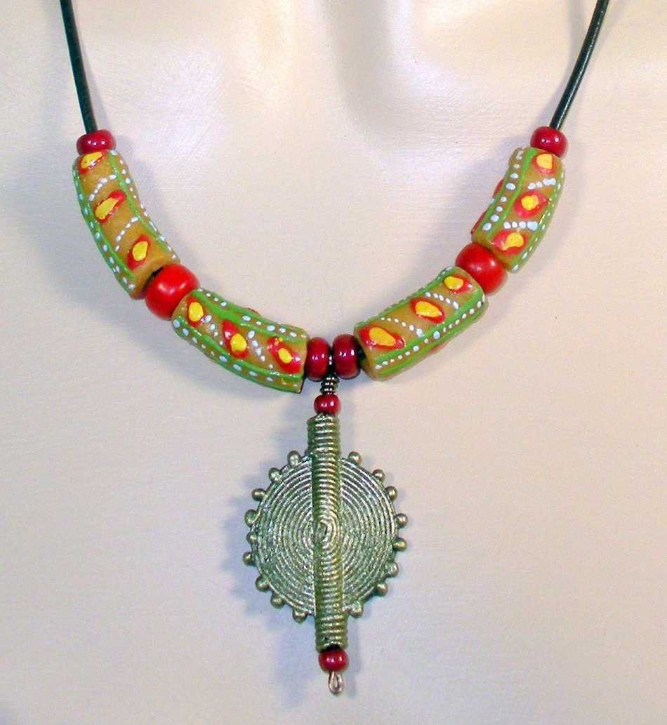 Unisex trade bead necklace eco-friendly by ...