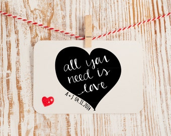 Custom Wedding Stamp All You Need is Love Style No. 23W