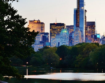 An Evening in Central Park, New York City, Manhattan - Color Photo Poster Wall Art Picture - 8x10 or 16x20