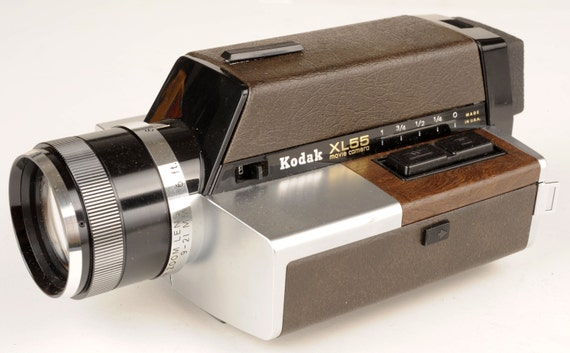 kodak vintage xl55 super 8 movie camera in original box new. Black Bedroom Furniture Sets. Home Design Ideas