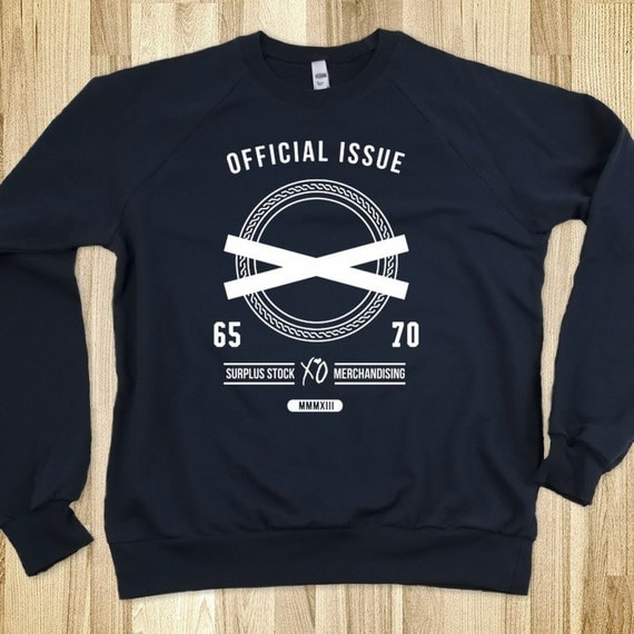 the weeknd official issue xo crew neck sweatshirt by