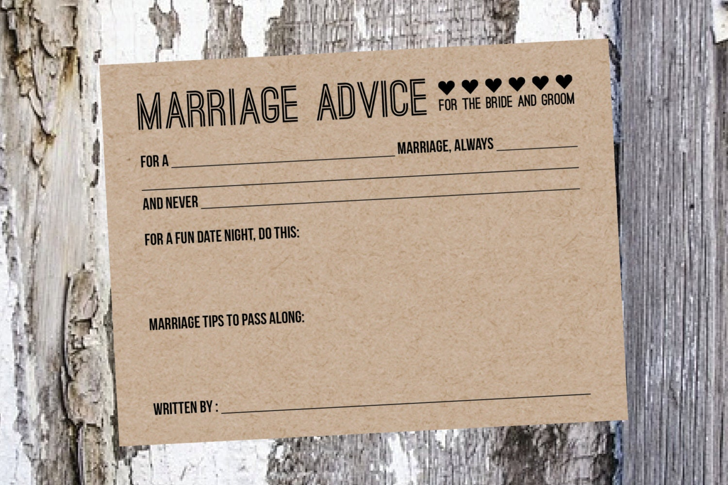 25 wedding advice cards bridal shower game by southerncards