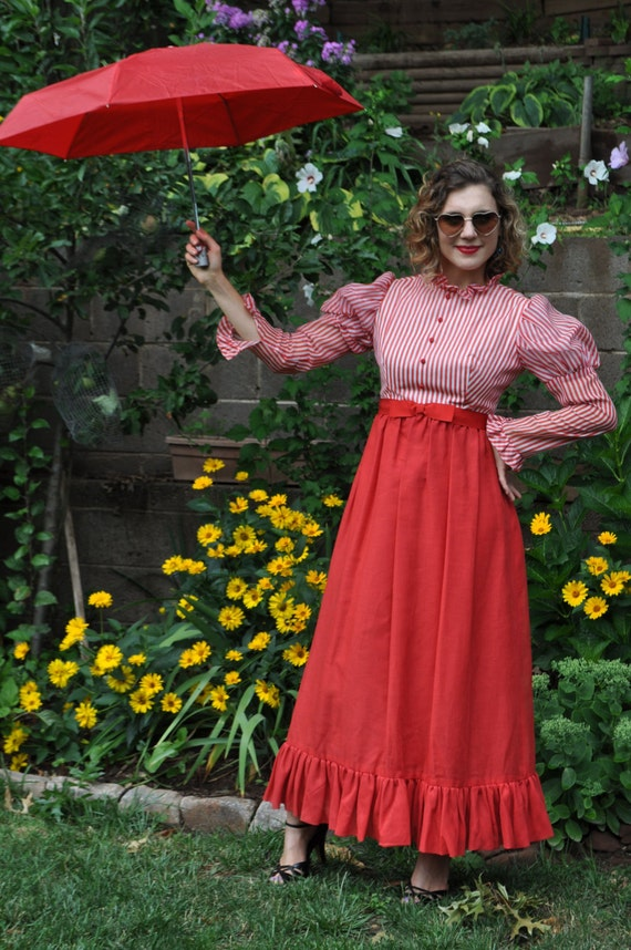 Vintage 50's Dress / 1950s Vintage Dress / Montaldo's Dress / 50s Montaldo's Dress / Music Man Dress / Mary Poppin's Dress