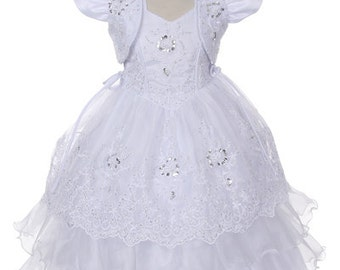 Halter Neck Baptism Dress