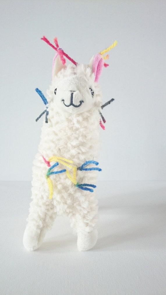 Plush llama. Little Llama Decorated with Tassles ...Just like the Llamas of Fox Hill!