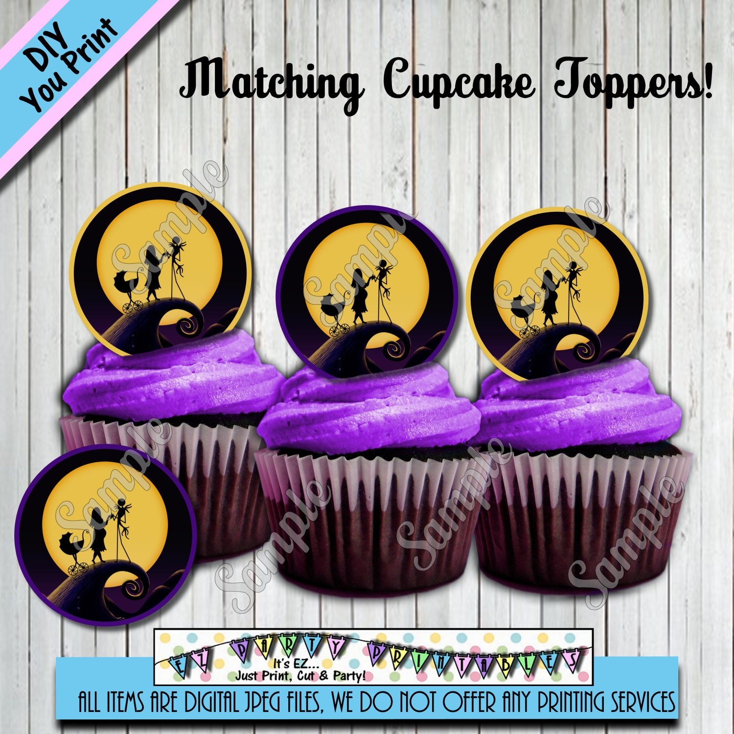 nightmare before christmas baby shower cupcake toppers other
