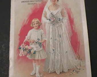 Jell-O America's Most Famous Dessert Advertisement Booklet 1916 The Genesee Pure Food Company Collectible Vintage Cookbook
