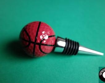 Basketball Golf Ball Wine Bottle Stopper