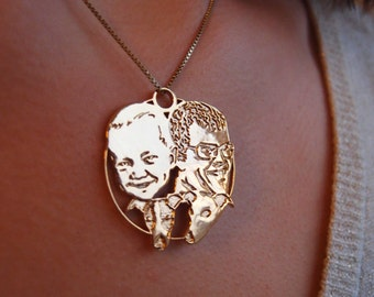 Custom portrait jewelry