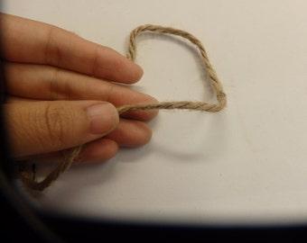 25m burlap twine jute twine thread string 3mm width natural hessian