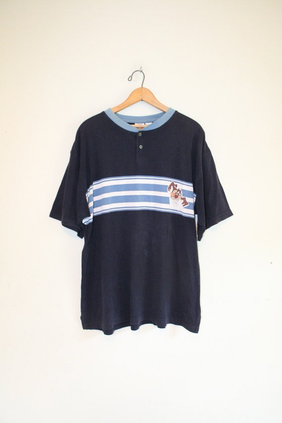 Striped Taz Tee Size Large 90s Looney Tunes Warner