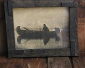 Vintage Kutenai Tribe Duck Hunter Print and Professionally Framed