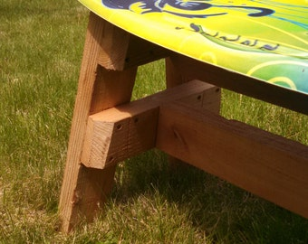 Slalom An Upcycled Vintage Water Ski Wine Rack Might Be The
