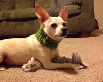 Small Breed Dog Scarf with Adjustable Buttons