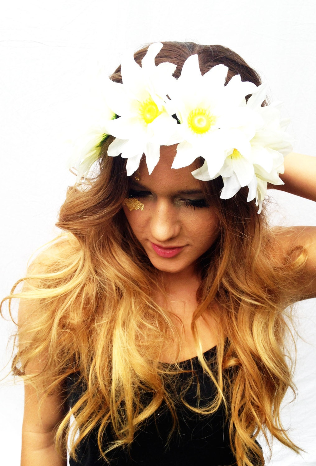 flower headband tumblr girl - photo #43