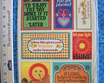 Vintage Meyercord Decorator Decal- Inspirational and Funny Sayings- 1970's
