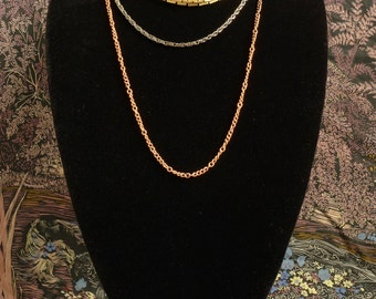 3 strand multi metal nestle necklace (N32)