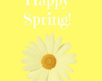 Happy Spring Printable - Instant Download