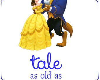 Beauty and the Beast Tale As Old As Time 8x10 Digital Wall Art