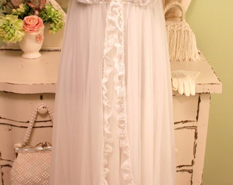 70s Peignoir Set Lace Negligee Retro Clothes Wedding
