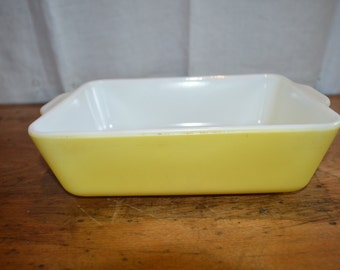 SALE!!!  Vintage Pyrex Primary Yellow REFRIGERATOR Dish. Nice OBLONG Shape. Two(2) Available. No Lid for these Two.