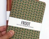 CHOOSE ANY DESIGN 2 x  Notebook Journal A5 Handmade Kraft Pattern Recycled / Chevron / Triangle  / Cubes / Cloud / Geometric