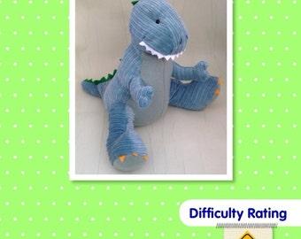 Dinosaur Soft Toy Sewing Pattern.    Stuffed Animal