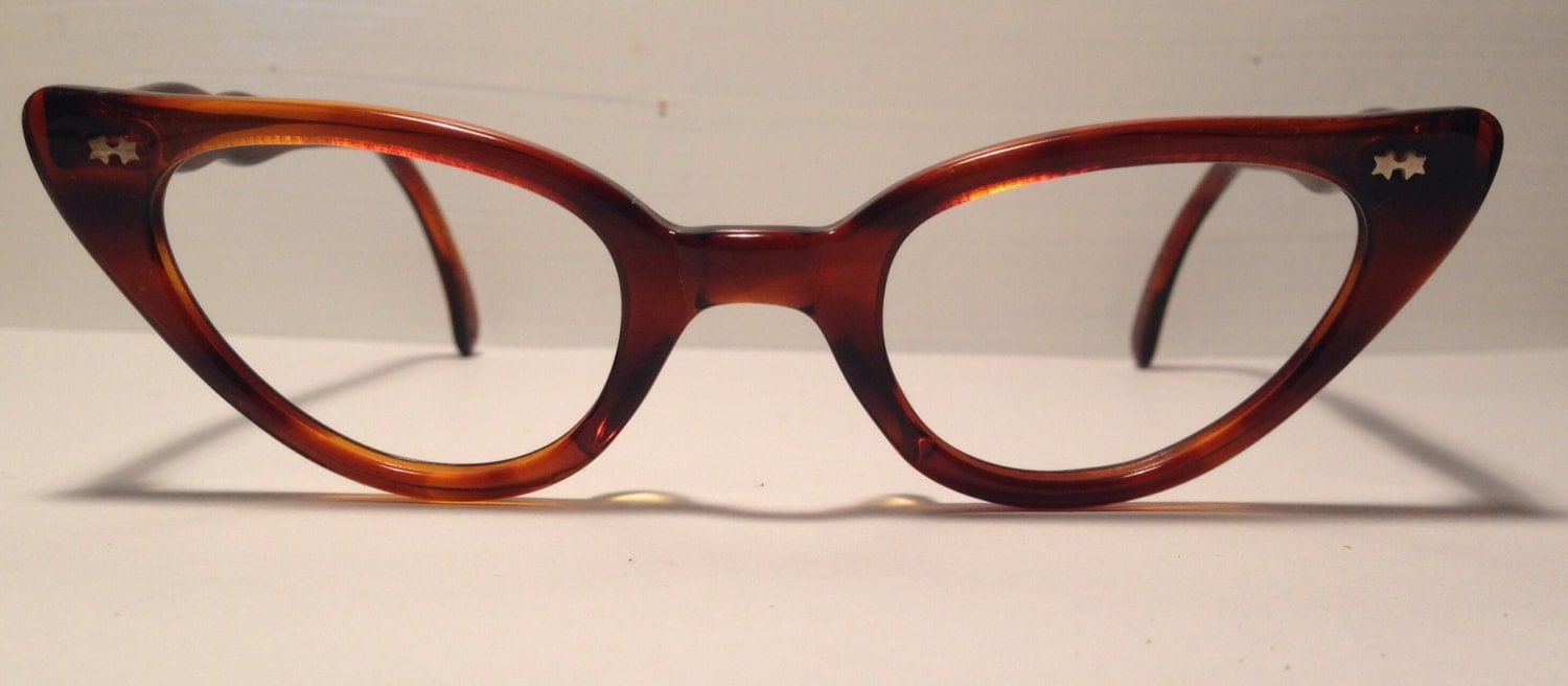 vintage eyewear cat eye style made in usa by