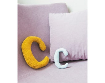 Knitted Letter C Knitting Pattern (803486)