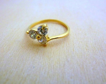Thin gold ring -GOLD Filled 14K swarovski ring, crystal, gift for her gifts for women minimalist ring
