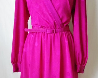 Vintage Hot Pink Dress with Polka dots