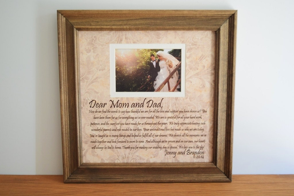 Personalized Wedding Picture Frames For Parents : Personalized Wedding Frame Parents of the Bride by framedaeon