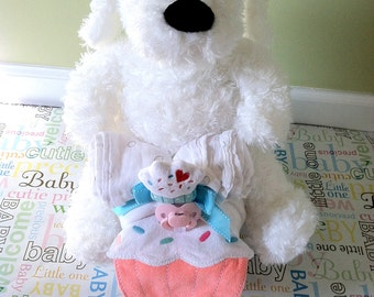 Cupcake Puppie Tricycle Diaper Cake
